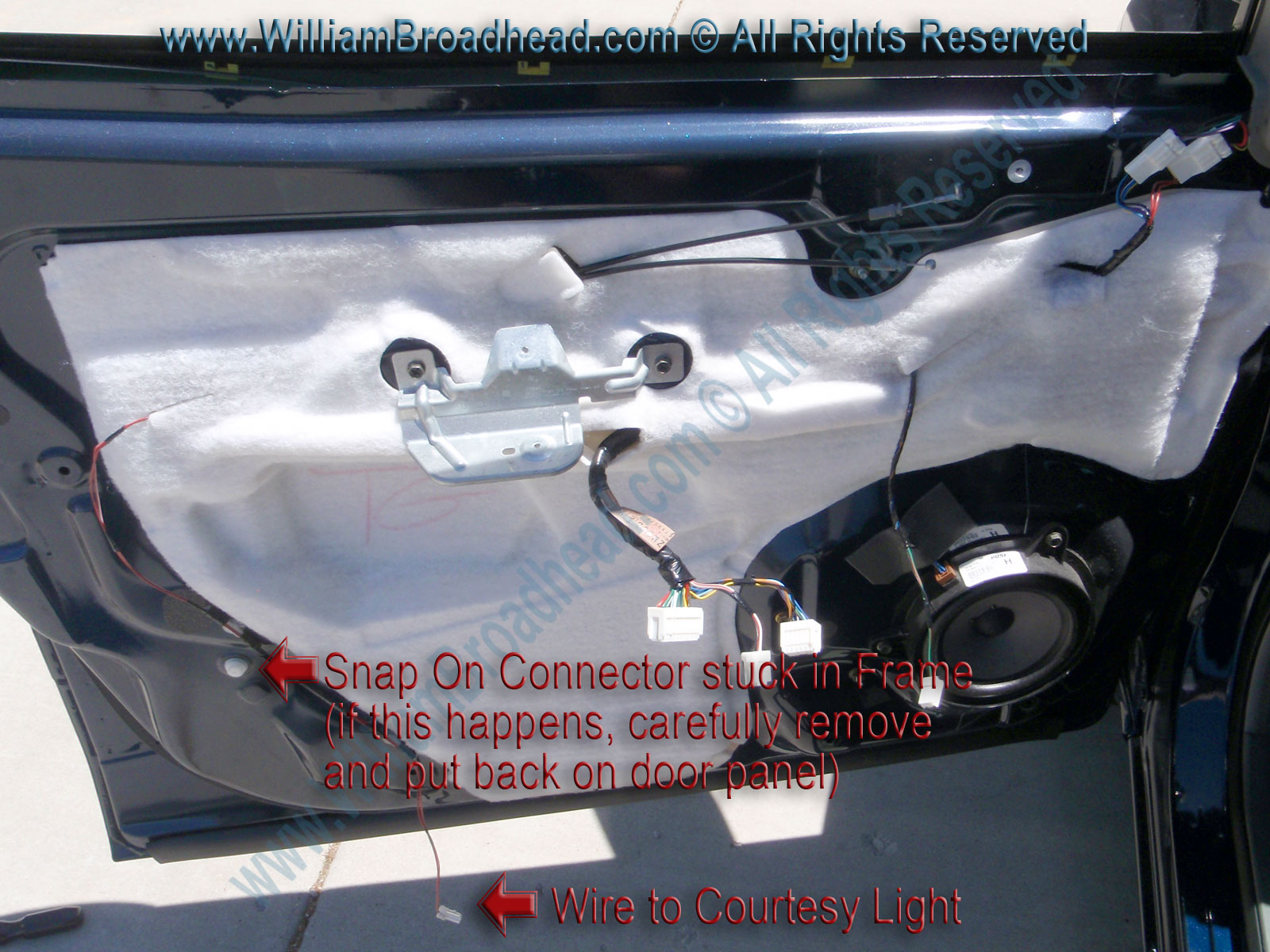 Fixing A Nissan Quest Window Motor William Broadhead Cube Engine Diagram Door Panel Completely Removed
